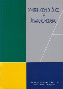 Cuberta para Contribución ó léxico de Alvaro Cunqueiro