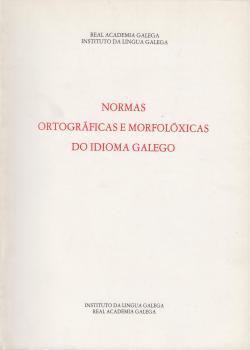 Cuberta para Normas ortográficas e morfolóxicas do idioma galego: 8ª ed