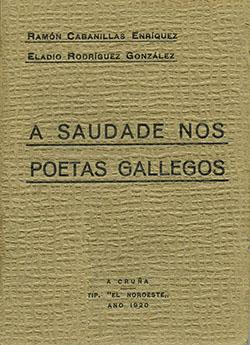 Cuberta para A saudade nos poetas gallegos
