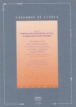 Cuberta para Actas do Simposio de lexicografía actual: elaboración de diccionarios