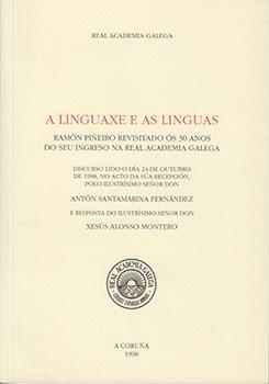 Cuberta para A linguaxe e as linguas: Ramón Piñeiro revisitado ós 30 anos do seu ingreso na Real Academia Galega