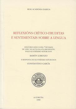 Cuberta para Reflexións crítico-eruditas e sentimentais sobre a lingua
