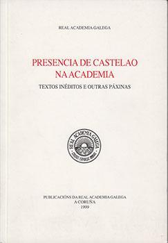 Cuberta para Presencia de Castelao na Academia: textos inéditos e outras páxinas