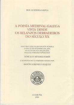 Cuberta para A poesía medieval galega vista desde os relanzos derradeiros do século XX