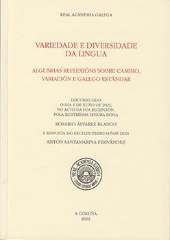 Cuberta para Variedade e diversidade da lingua: algunhas reflexións sobre cambio, variación e galego estándar