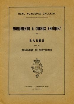 Cuberta para Monumento a Curros Enríquez: bases para el concurso de proyectos