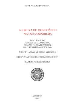 Cuberta para A igrexa de Mondoñedo nas súas sinodais