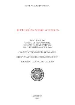 Cuberta para Reflexións sobre a lingua