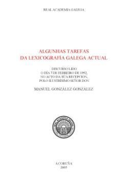 Cuberta para Algunhas tarefas la lexicografía galega actual