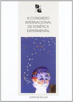 Cuberta para III Congreso Internacional de Fonética Experimental