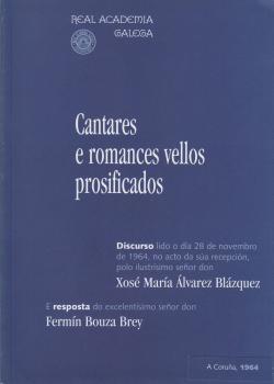 Cuberta para Cantares e romances vellos prosificados