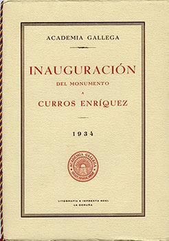 Cuberta para Inauguración del monumento a Curros Enriquez