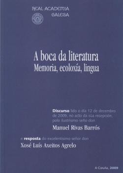 Cuberta para A boca da literatura. Memoria, ecoloxía, lingua