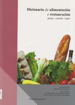 Cuberta para Dicionario de alimentación e restauración: galego - castelán - inglés