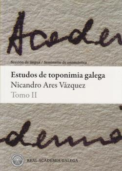 Cuberta para Estudos de toponimia galega: tomo II