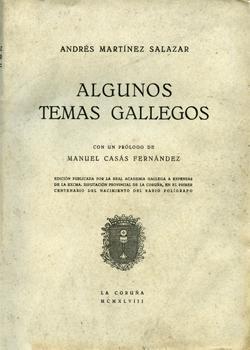 Cuberta para Algunos temas gallegos: volume I