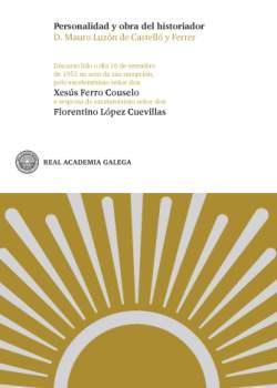 Cuberta para Personalidad y obra del historiador D. Mauro Luzón de Castelló y Ferrer