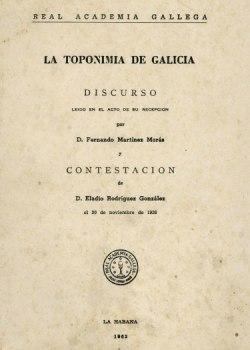 Cuberta para La toponimia de Galicia