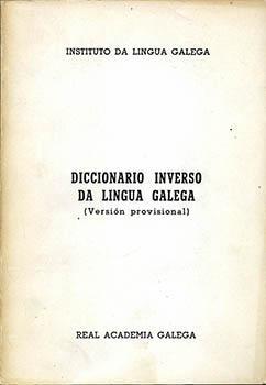 Cuberta para Diccionario inverso da lingua galega: (versión provisional)