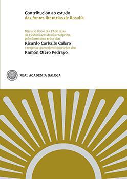 Cuberta para Contribución ao estudo das fontes literarias de Rosalía