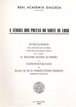 Cuberta para A lengua dos poetas do norte de Lugo