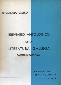 Cuberta para Breviario antológico de la literatura gallega contemporánea