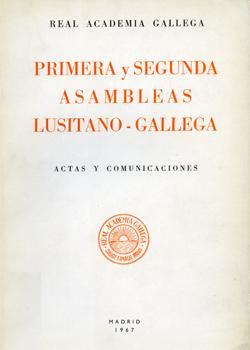 Cuberta para Primera y segunda asambleas lusitano-gallegas: actas y comunicaciones