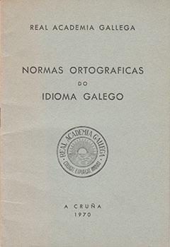 Cuberta para Normas ortográficas do idioma galego