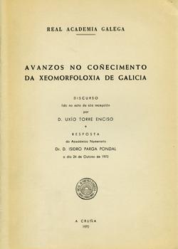 Cuberta para Avanzos no coñecimento da xeomofoloxía de Galicia