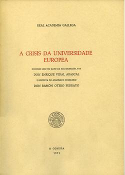Cuberta para A crisis da universidade europea