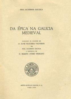 Cuberta para Da épica na Galicia medieval