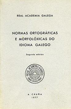 Cuberta para Normas ortográficas e morfolóxicas do idioma galego: 2ª edición