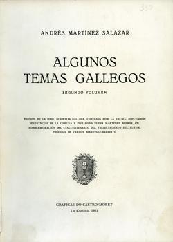 Cuberta para Algunos temas gallegos: volume II