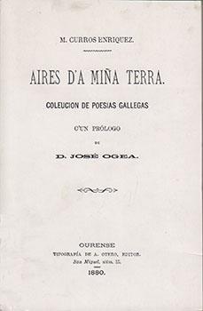 Cuberta para Aires d'a miña terra: coleución de poesía gallega