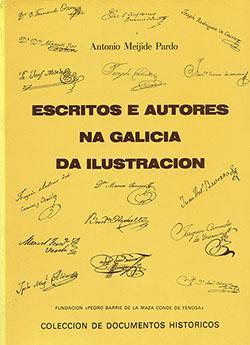 Cuberta para Escritos e autores na Galicia da Ilustración