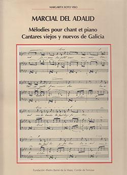 Cuberta para Mélodies pour chant et piano: cantares nuevos y viejos de Galicia